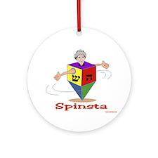 Hanukkah Dreidel Spinsta Ornament (Round)