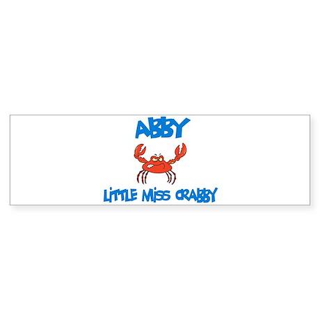 Abby - Little Miss Crabby Bumper Sticker
