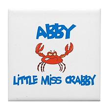 Abby - Little Miss Crabby Tile Coaster