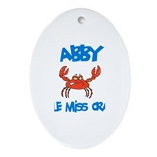 Abby - Little Miss Crabby Oval Ornament