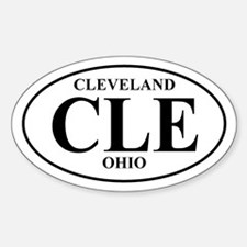 CLE Cleveland Oval Decal