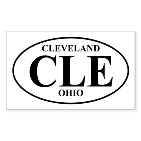 CLE Cleveland Rectangle Sticker