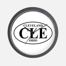 CLE Cleveland Wall Clock