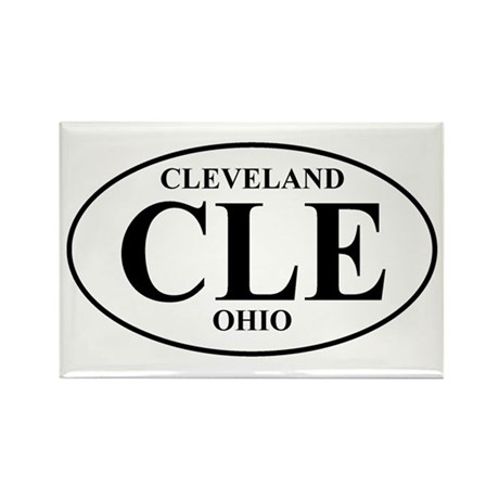 CLE Cleveland Rectangle Magnet