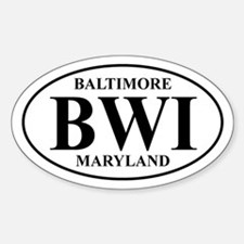 BWI Baltimore Oval Decal