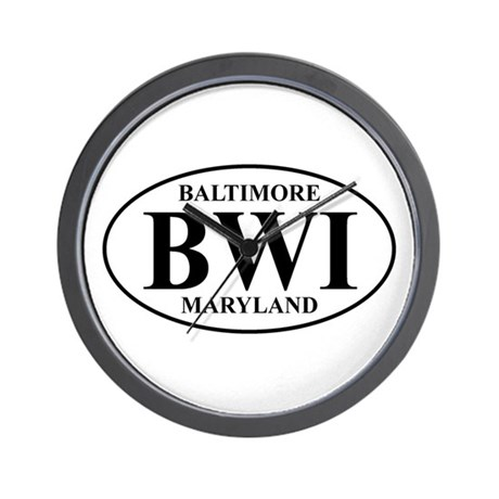 BWI Baltimore Wall Clock