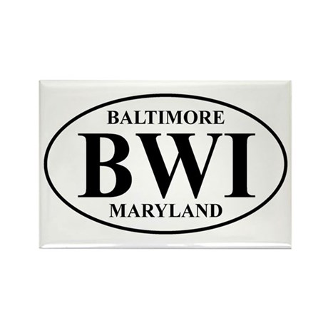BWI Baltimore Rectangle Magnet