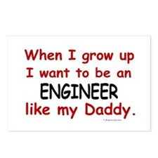 Engineer (Like My Daddy) Postcards (Package of 8)
