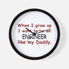 Engineer (Like My Daddy) Wall Clock