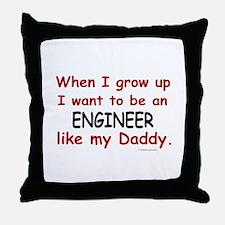 Engineer (Like My Daddy) Throw Pillow