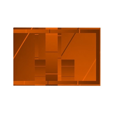 Orange Rectangle Art Rectangle Magnet