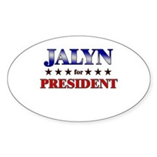 JALYN for president Oval Decal