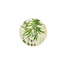 Cannabis Sativa Mini Button