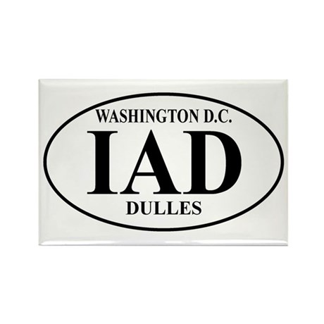 IAD Washington Dulles Rectangle Magnet