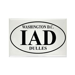 IAD Washington Dulles Rectangle Magnet (10 pack)