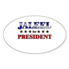 JALEEL for president Oval Decal