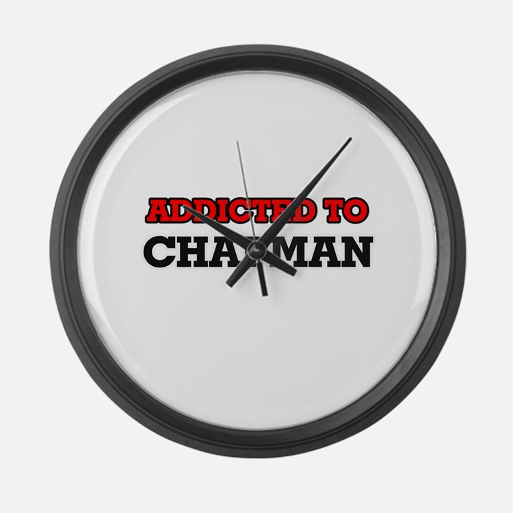 Addicted to Chapman Large Wall Clock