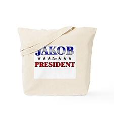 JAKOB for president Tote Bag