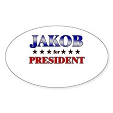 JAKOB for president Oval Decal