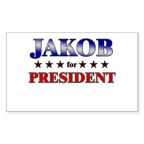 JAKOB for president Rectangle Sticker