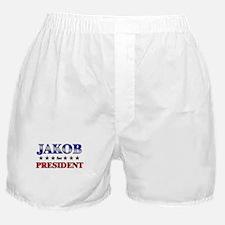 JAKOB for president Boxer Shorts