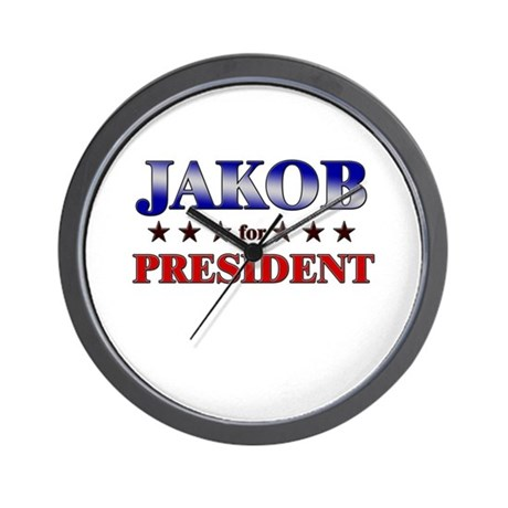 JAKOB for president Wall Clock