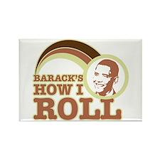 barack's how I roll Rectangle Magnet (10 pack)