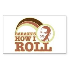 barack's how I roll Rectangle Decal