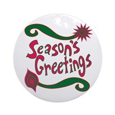Holiday Greetings Ornament (Round)
