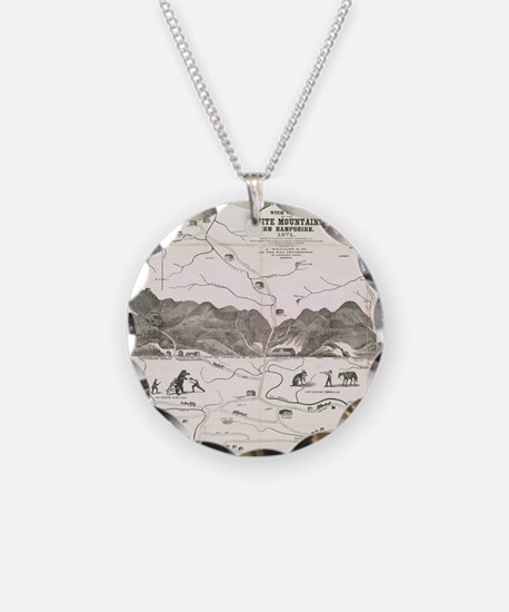 Vintage Map of The White Mou Necklace