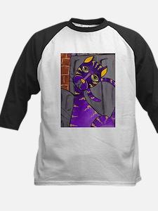 Purple Alley Cat Kids Baseball Jersey