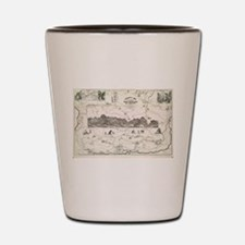 Vintage Map of The White Mountains (187 Shot Glass