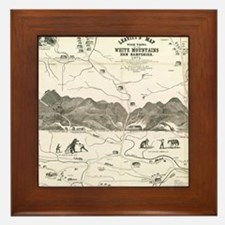 Vintage Map of The White Mountains (18 Framed Tile