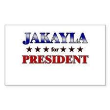 JAKAYLA for president Rectangle Decal