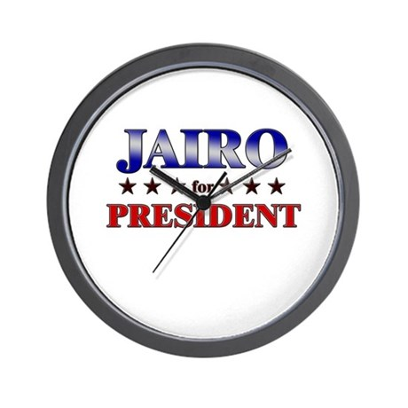 JAIRO for president Wall Clock