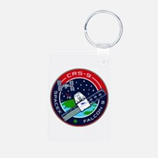 CRS-9 Flight Logo Aluminum Photo Keychain