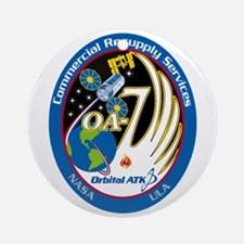 CRS-9 Flight Logo Round Ornament