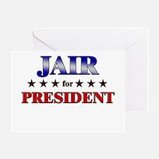 JAIR for president Greeting Card