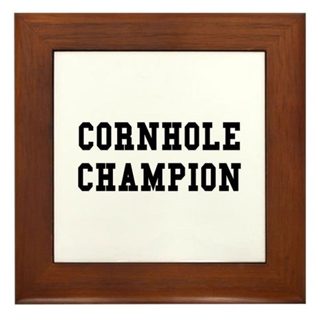 Cornhole Champion Framed Tile