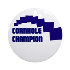 Cornhole Champion Ornament (Round)