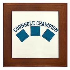 Cornhole Champion Framed Tile