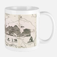 Vintage Map of The White Mountains (1871) Mugs