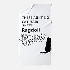 Ragdoll Glitter Beach Towel