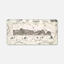 Vintage Map of The White Mo Aluminum License Plate