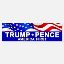 Trump Pence America Bumper Car Car Sticker