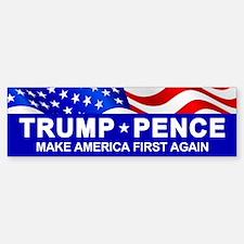 Trump Pence America First Bumper Bumper Bumper Sticker