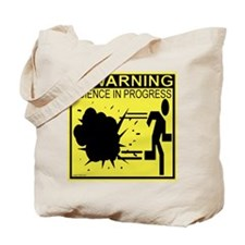 Science In Progress (yellow) Tote Bag