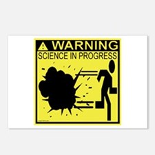 Science In Progress (yellow) Postcards (Package of