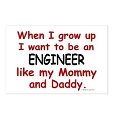 Engineer (Like Mommy & Daddy) Postcards (Package o