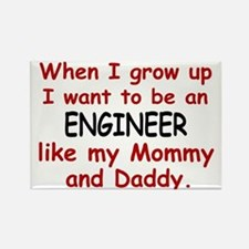 Engineer (Like Mommy & Daddy) Rectangle Magnet